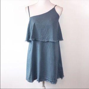 NEW Somedays Lovin Chambray Asymmetrical Dress L